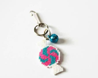 Pink And Blue Candy Charm, Kawaii Candy Charm Planners, Notebook Or Purse Charm