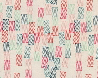 Cotton and Steel Paper Cuts Taomi Spearmint Fabric by the Half Yard