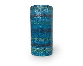 Bitossi Cylindrical Vase - Rimini Blu Ref: Aldo Londi - Raymor