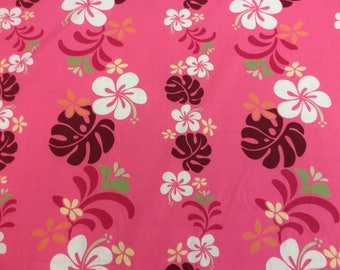 SALE!! Cotton Hawaiian Print   (Yardage Available)