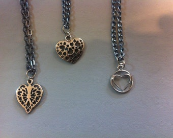 SALE**** Assorted heart charm necklaces