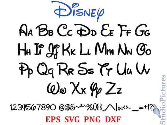Walt disney font svg font svg alphabet svg dxf png - Lettre disney ...