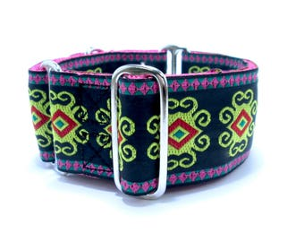 """Martingale or Buckle Dog Collar, Houndstown 2"""" Octix Unlined Size Small, Medium, or Large"""