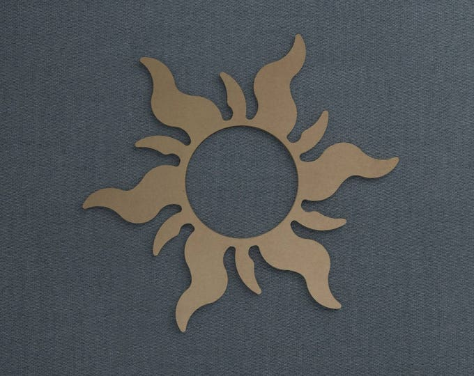 Featured listing image: Sun, Wood Cutout, Unfinished Sign