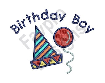 Birthday Boy Hat - Machine Embroidery Design