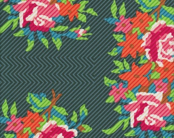 Twill Bouquet evergreen Anna Maria Horner Dowry FQ or more