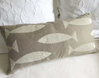 FISH pillow 12X26 decorative/lumbar/throw insert included