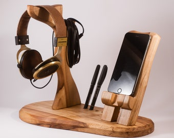 Casque et smartphone stand/support/socle