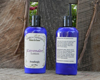 Lavender Hand Lotion! 4 oz aloe lotion, lavender scented lotion, clean lotion, Hemp Oil lotion, aromatherapy lotion, scented hand cream