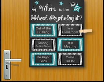 Where is the School Psychologist, Office Door Decor, Gift for Psychologist, Printable Sign, School Psychology, Gift Idea, Poster