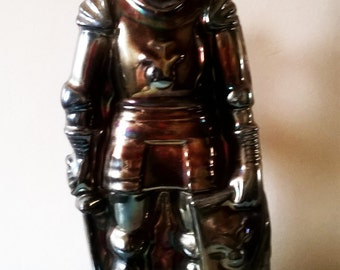 Medieval Knight in Armour Fireplace Companion Set - 1950s