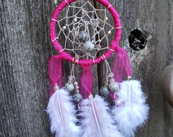 Handmade OOAK Dreamcatcher Ornament - 2 inch dia.