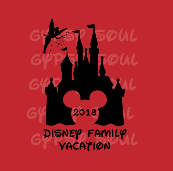 Disney Family Vacation 2018 Silhouette SVG Cricut Cut File