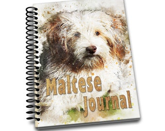 Maltese Journal: 150 lined pages journal and notebook | 8x10 inches | Dog Lovers | Maltese