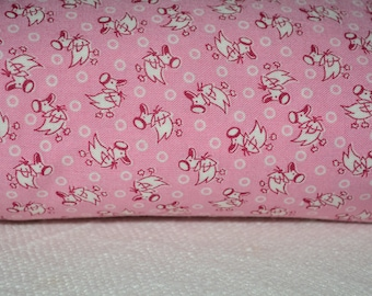 Novelty pink quilt fabric cotton Sara Morgan baby girl Pink baby nest fabric  Blue Hill Fabrics by the half yard nursery decor baby shower