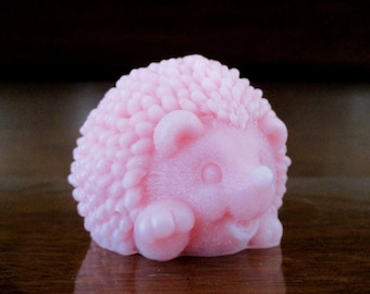 "Baby Hedgehog Soap with scent of ""Yuzu', Japanese grapefruit."