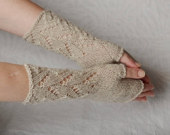 Knit Fingerless gloves, clothing gift, knit arm warmers, Fall fashion, Gift for women, mittens Long Boho wool, womens gift wrist warmers