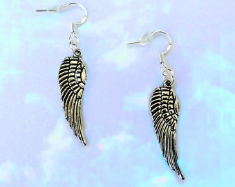 Mothers Day Gift For Mom. Mothers Day Earrings. Angel Wing Earrings. Angel Mom. Gift For Women. Birthday Gift For Her. Gift For Friend Woman