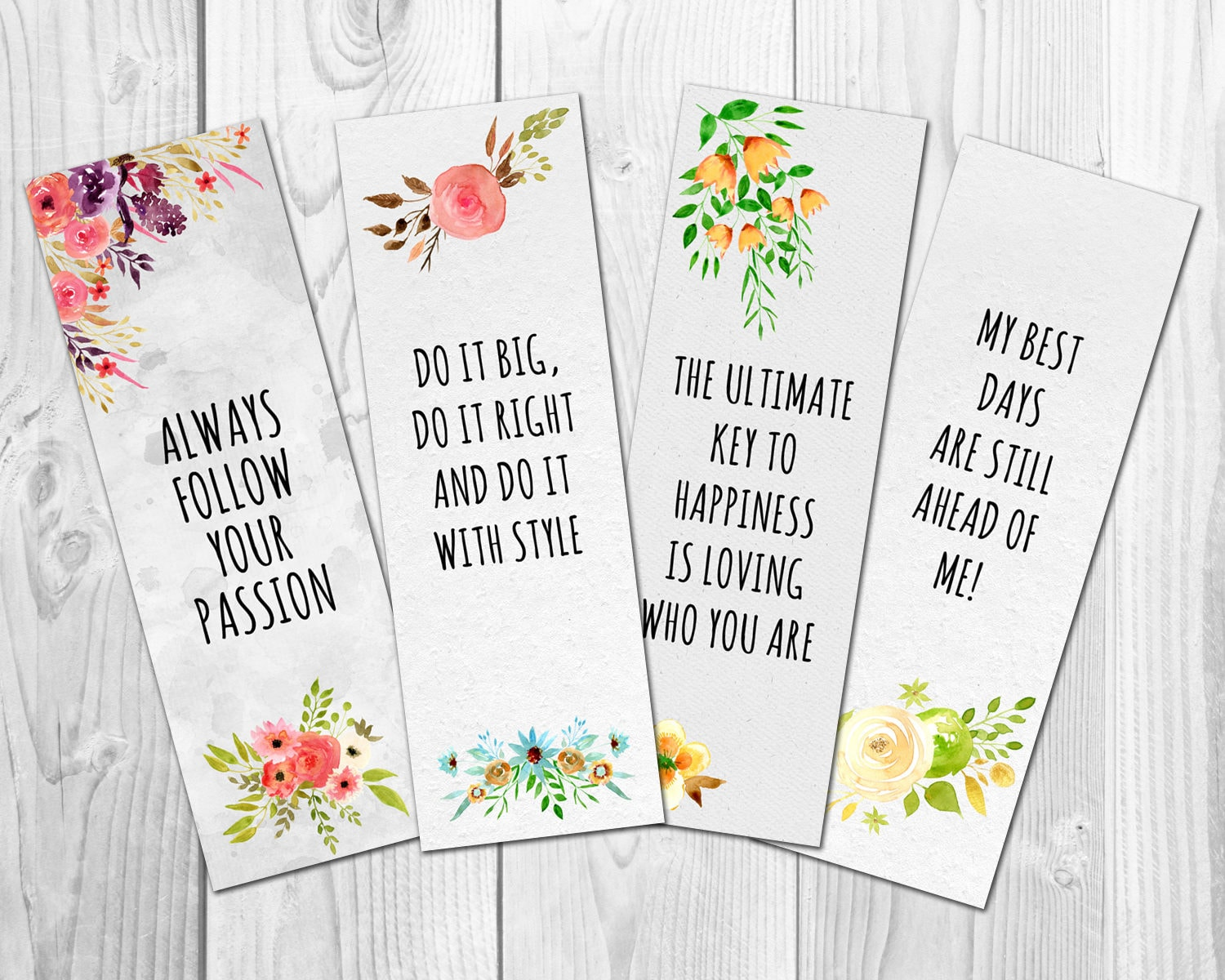 Motivational Bookmarks Template Quote Bookmarks Printable