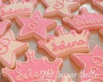 Princess Crowns Sugar Cookies