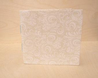 Handmade Mini Stitched Notebook, Mini Sketchbook, Nepalese Paper, Mini Journal, Mini Diary