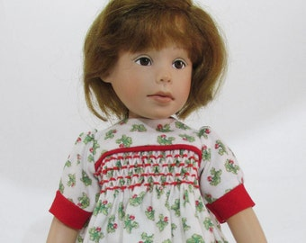 10 inch Doll,  Willow's Way Dress, Turnip Time Smocked Dress