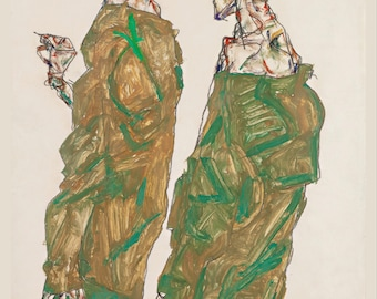 Egon Schiele: Devotion. Fine Art Print/Poster. (003677)