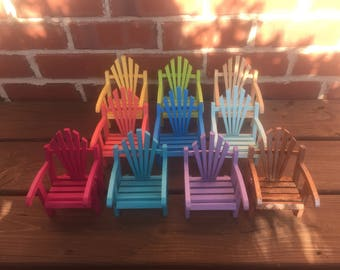 Adirondack chair, Spring decoration, porch decoration, beach chair, miniature fairy garden chair, mini Adirondack chair