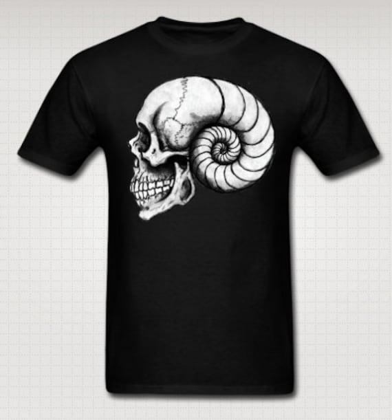 Nautilus Spiral Skull Tee Shirt