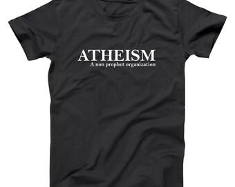Atheism Funny Humor Pride Atheist Basic Men's T-Shirt DT1237