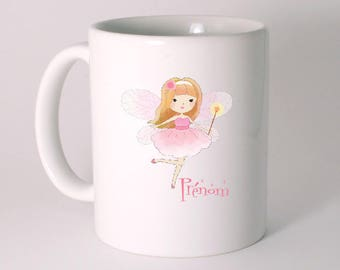 """CERAMIC MUG """"Fairy"""" personalized with text of your choice"""
