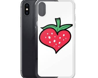 Strawberry Heart - iPhone 7 Case iPhone 6 Case, iPhone 6s Case, iPhone 8 Case, iPhone X Case