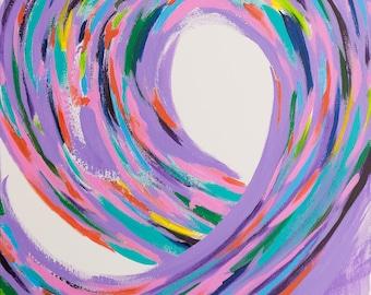 Ribbon print (large) // 20x20 digital print of original artwork