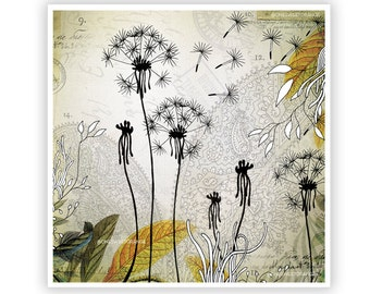 Little Dandelions by Iveta Abolina -  Floral Illustration Print