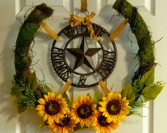 Welcome Friends and Family Wreath