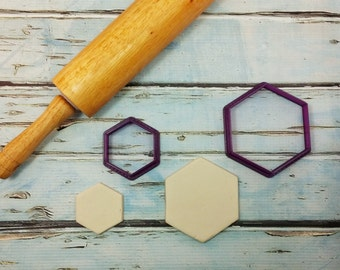 Hexagon Cookie Cutter and Fondant Cutter and Clay Cutter