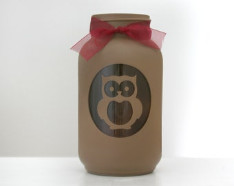Owl Mason Jar