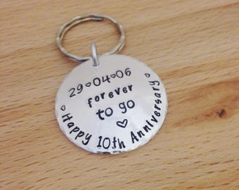 10 year Anniversary gift, husband gift, 10th wedding, wife, aluminium, ten year anniversary, 10th wedding anniversary gift, personalised man
