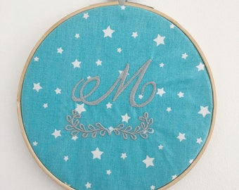 Personalized embroidery baby frame