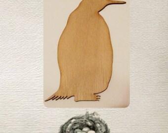 Penguin Wood Cut Out - Laser Cut