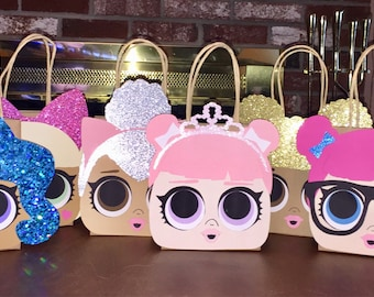 Set of 20 Party Favor Gift Bags / Goodie Bags / Treat Bags / Doggie Bags / Birthday / Baby Shower / LOL Surprise Dolls