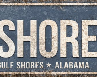 "Gulf Shores Pkwy // Gulf Shores, Alabama  // Metal Sign // 5.5"" x 22"""