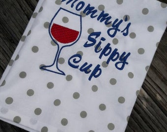 DIGITAL DOWNLOAD Funny Mother's Day Mommy's Sippy Cup Embroidery Design 3 Sizes ITH