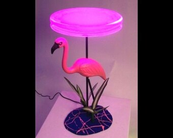 Flamingo Neon Art Table