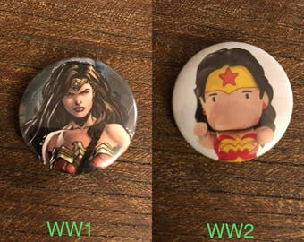 Wonder Woman 1.25in pin back button