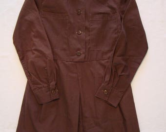 Vintage Girl Guides of Canada Brownie Uniform Dress 1960s Designed by Elen Official Uniform GGC Guides Scouts Brownies Original Buttons