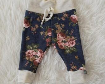 nala floral faux tie pants by little lapsi. ready to ship. pants leggings