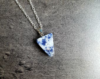 Nickel free silver chain and Sodalite gemstone necklace