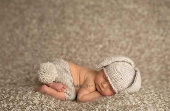 Newborn knitting pattern newborn knit pattern newborn hat pattern photo props pattern bunny beanie photography prop photo prop from lilybphotoprops on