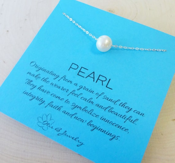 Floating Pearl Necklace Pearl Meaning Symbolic Symbolism